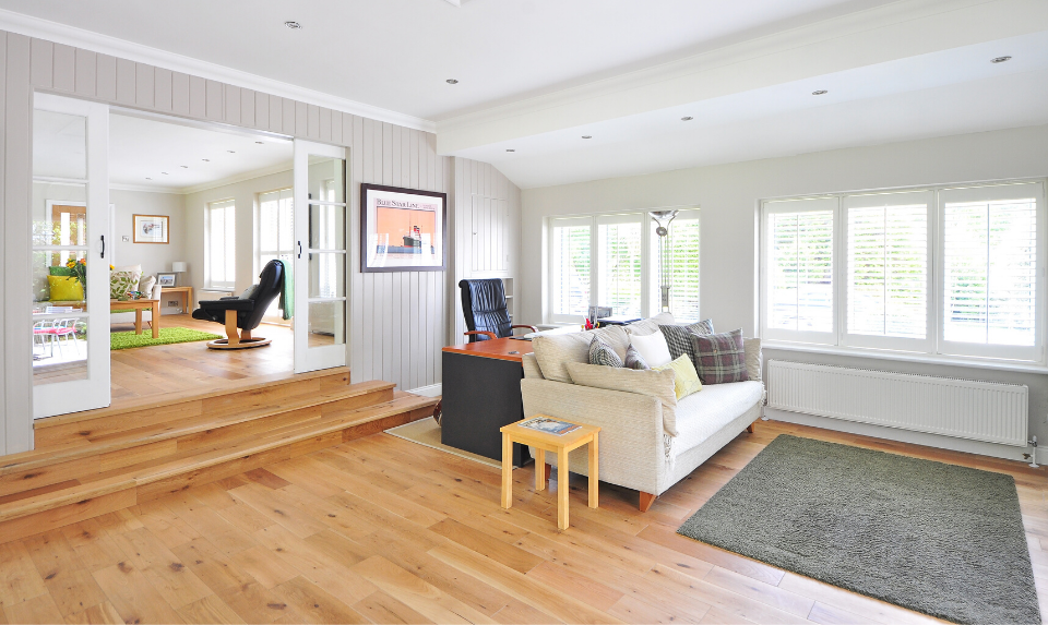 wood flooring in the living room