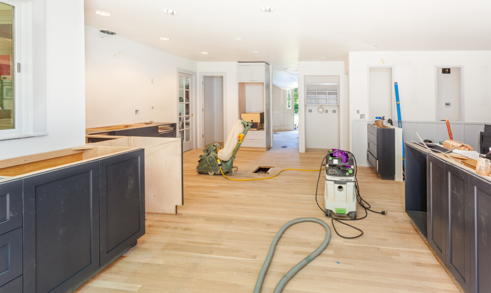 wood floor refinishing by a professional