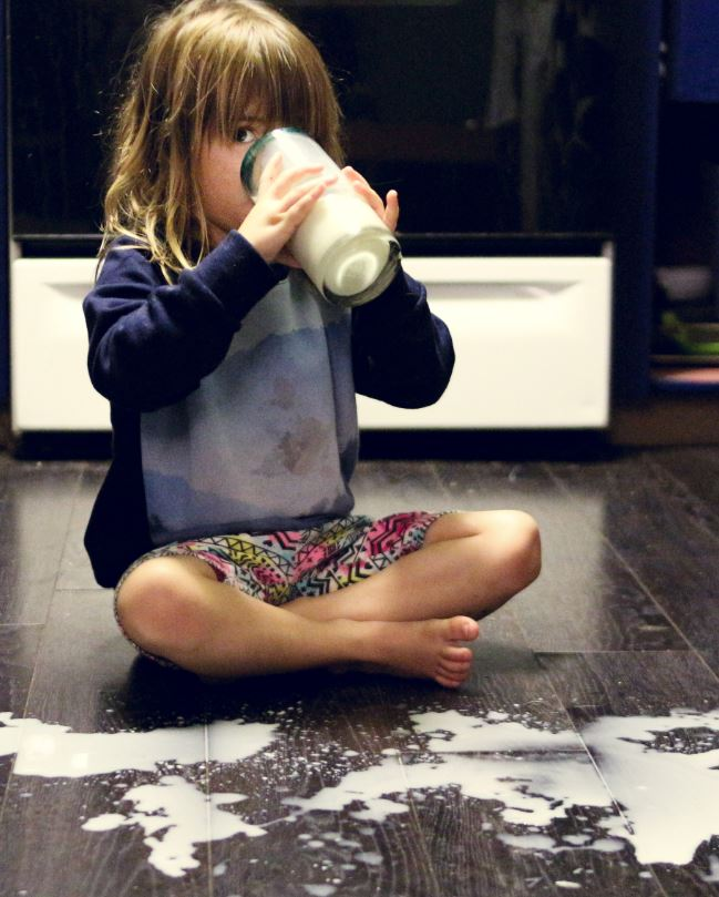 The kitchen is prone to spills.